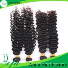 Extensión del pelo humano 7A / peluca del pelo humano de la Virgen / peluca del cabello humano