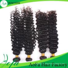 7A Extension de cheveux humains / Trame de cheveux humains vierges / Perruque de cheveux humains