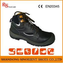 Chaussures de sécurité exécutives en cuir noir Action RS724