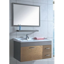 Hangzhou Popular Mirrored Cabinet Stainless Steel Ceramic Basin Vanité de banheiro