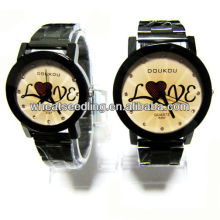 Dom casal relógio conjunto com amor design para os amantes JW-41