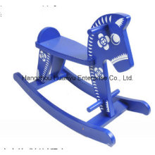 New Design Wooden Rocking Horse-Blue and White Porcelain Horse Rocker