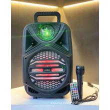 QS-4002 8 Inch Speaker Outdoor Portable Trolley Speaker DJ Speaker System Subwoofer Sound Box With LED Light KIMISO