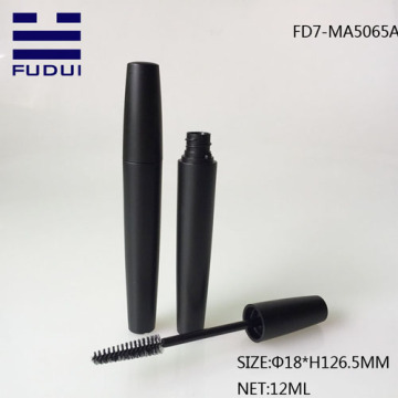 12ML Matte Black Round Plastic Mascara tube