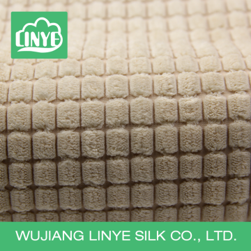 plush corduroy and microfiber polyester fabric for covering sofa cushions