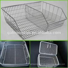 De acero inoxidable esterilización Wire Mesh bandejas y cestas colador