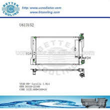 Radiador De Aluminio Para TOYOTA COROLLA 16410-22160 09- Fabricante y Venta Directa