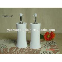Aceite de porcelana duradera y vinagre conjunto de botellas