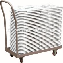 Siège en plastique cadre en métal chaise pliante poly