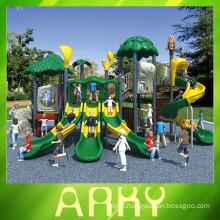 2015 New Design Kids Jungle series Plastic Sliding Outdoor Playground