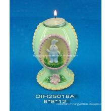 Porte-bougies en céramique en céramique décoratif de Pâques