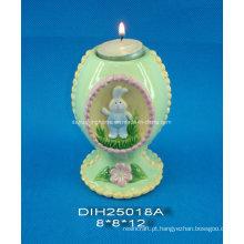 Suporte de vela cerâmico decorativo da Páscoa de Tealight