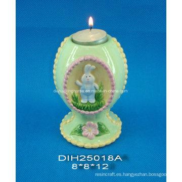 Candelabro de cerámica decorativo de Pascua de Pascua