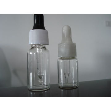 Clear Tubular Screwed Glass Bottle with Dropper and Bulb