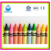Crayones de cera de color de calidad y auditados a granel / embalados 4/6/8/12/15/16/24/36/48/64