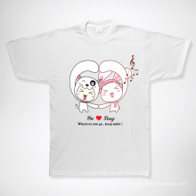 2015 Latest New Design Model Lovely Couple Cotton Jersey T-Shirts Printing