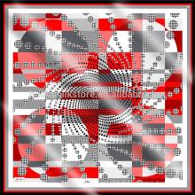 Custom Made impressa cachecol de seda Digital Print Custom Design cachecol de seda
