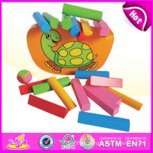 2015 neue Holzblock Set Balance Kid Spielzeug Set, bunte schöne Balance Kid Spielzeug Spiel, heißer Verkauf Cute Wooden Balance Kid Spielzeug W11f038
