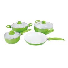 Hot Sale White Color Ceramic Coating Cookware Set