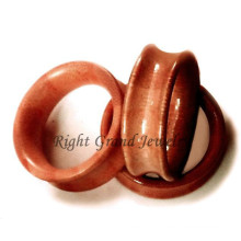 Corps de lumière rouge Piercing bijoux oreille bois organique Tunnels