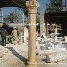 Бежевый камень скульптуры колонке (SY-C001)