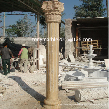 Beige Stone Skulptur Spalte (SY-C001)