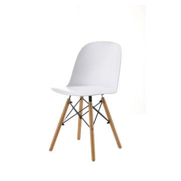 Café-Esszimmerstühle aus schwarzem Kunststoff