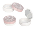 Diamond Pink Compact Powder Container With Mirror