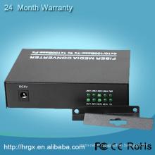 1 port rj45 de port de fibre, convertisseur de médias simple de fibre de RX / TX avec 2 ports ethernet