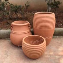Pots de jardinière en terre cuite pour la décoration extérieure