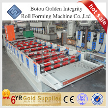 Corrugated and trapezoidal roofing sheet roll forming machine, Steel sheet making machine