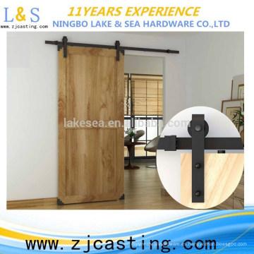 Herraje / puerta de granero de puerta de granero deslizante de madera negra