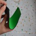 Зеленый и черный составные резиновый лист