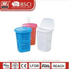 Cesta cesta de lavanderia/lavandaria com wheels(49L) redondo de plástico