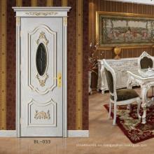 Puerta de madera de pintura China de muebles interiores