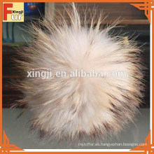 Real Raccoon Fur Bobble para sombrero