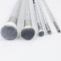 5pcs porcelain grain professional brush set for makeup