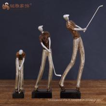Figurine humaine en ornement de résine pour décoration de cadeaux