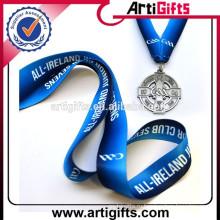 Ployester с изготовленным на заказ логосом шелк-печатание медаль талреп