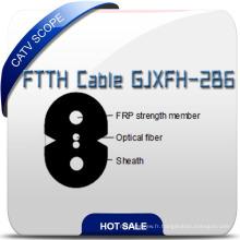 Câble FTTH Gjxfh-2b6