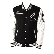clothing manufacturer custom satin varsity jacket