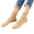 Мужские женские зимние бархатные утепленные снежные носки