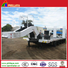 Hydraulic Steering Axles Drop Deck Gooseneck Truck Semi Crane Trailer