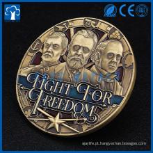 2017 presentes e artesanato embutidos em moeda 3D
