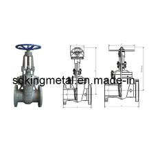 DIN F7 Gussstahl Steigender Schieberventil Pn4.0-6.4mpa