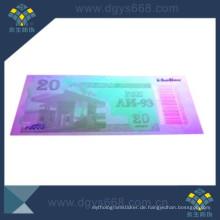 UV-Nummern-Papierticket für Promotion