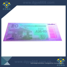 UV Numbers Paper Ticket for Promotion