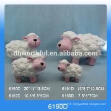 High quality ceramic sheep statue for decoration