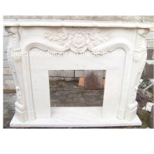 Hot Sale High Quality Marble Fireplace with Hand Carved (SY-MF148)