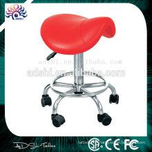 Chaise de tatouage réglable en rouge, tabouret de tatouage, meubles portables de chaise de tatouage